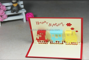 3d greeting birthday card of train buy new diy card3d card 3d greeting birthday card of train bookmarktalkfo Image collections