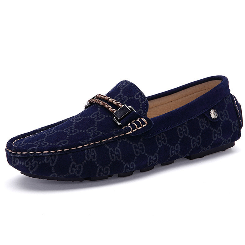 2015 Men Loafers Shoes Moccasins Summer Breathable Slip On Loafers Shoes Casual Men Flat Shoes Chaussure Homme Blue Size 38-43