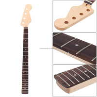 21 Fret Bass Neck Maple Neck Rosewood Fingerboard for Replacement Guitar Parts & Accessories
