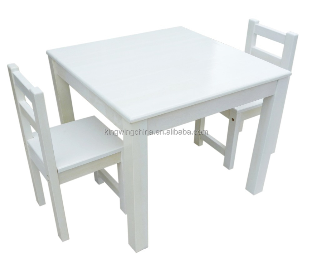 White Kids Table Chair Set And Chairs Study Wooden For Product On Alibaba