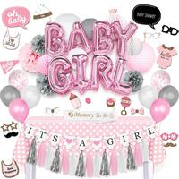 Nicro Hot Sale Pink Birthday Baby Shower Party Decoration Kit For Girl