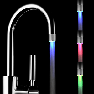 High quality LED faucet light/change color faucet light/LED shower head
