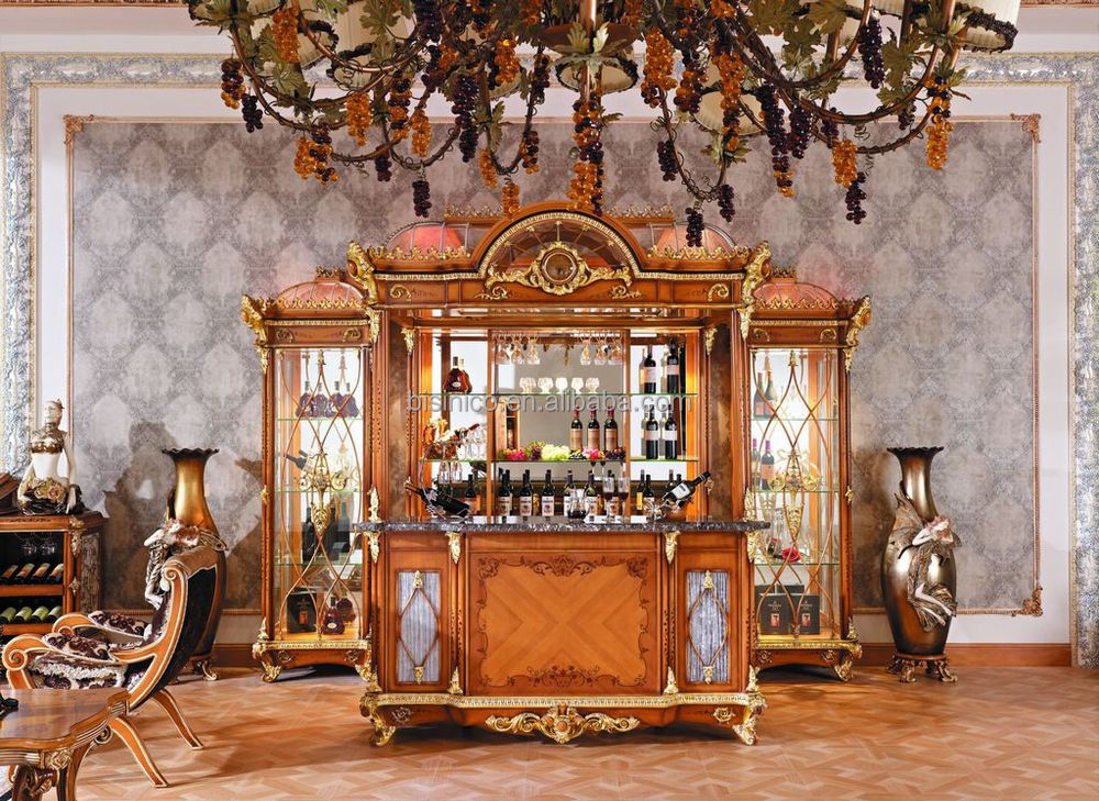 Charming Luxury French Style Baroque Style Home Bar Stool/Antique Castle Wooden Hand  Carved Bar Stool