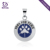 Wholesale cute dog paw print logo stainless steel jewelry pendant