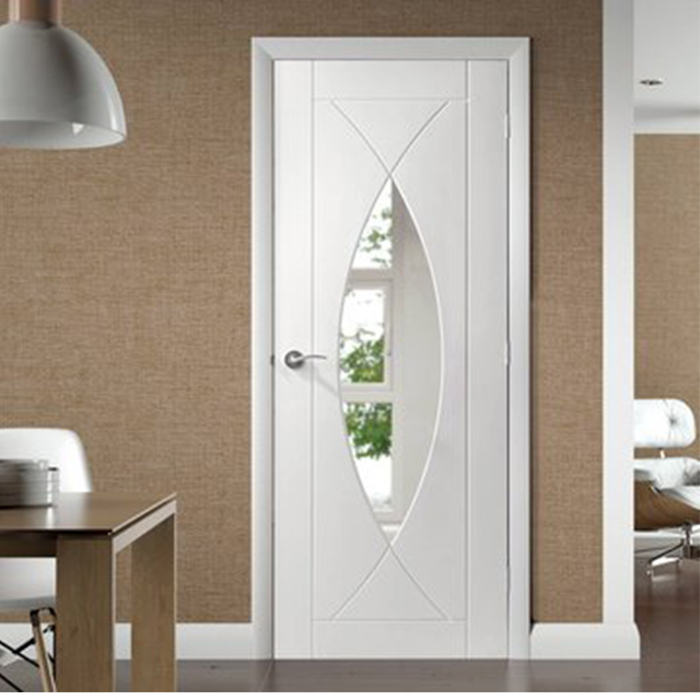 Simple design cheap price interior solid core flush doors