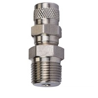 Standard type 316 Stainless steel manual air purge valve
