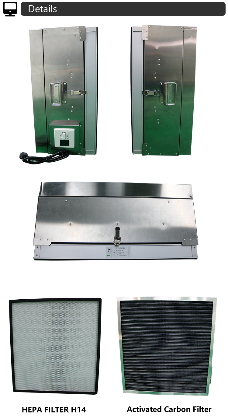 Electrical Panel Fan Carbon Filter Unit for Laboratory