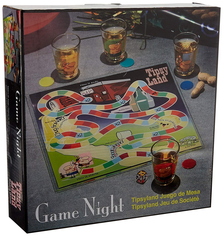 Game Night Tipsyland Drinking Shot Glass Board Set