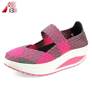 New arrival handmade elastic soft woven elastic shoes