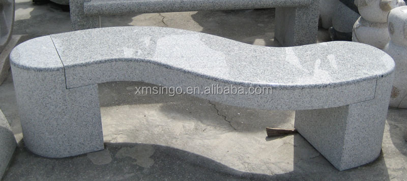granite stone bench/Landscaping stone granite bench with back