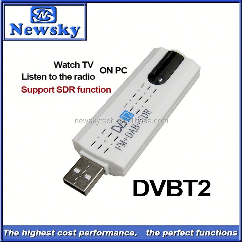 Portable usb dvb-t2 digital tv tuner for computer support SDR function