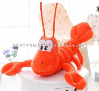 Professional Customized Soft Stuffed Animals Toys Plush Shrimp Toy