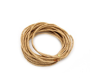 Eco-Friendly craft natural twisted carrier rope paper rope for gift bag