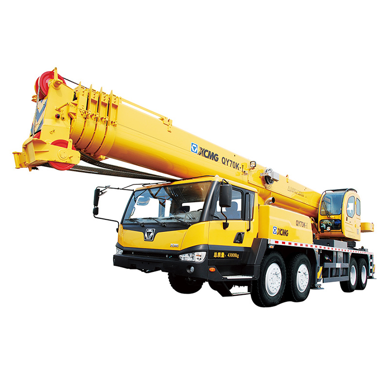 QY70K-I for Sale 70 tons telescopic boom truck mounted crane new mobile man truck auger crane
