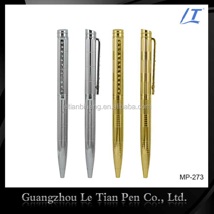 Resonable price luxury diamond crystal ball pen with metal clip