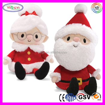 a048 mr and mrs santa claus stuffed toy plush santa claus dolls - Stuffed Santa Claus