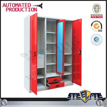 Hot Sale Small Steel 3 Door Wardrobe for Children Bedroom