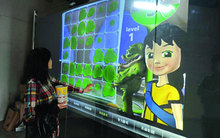 52″ cheap transparent touch foil/film, 4 points Multi interactive touch screen foil for touch table