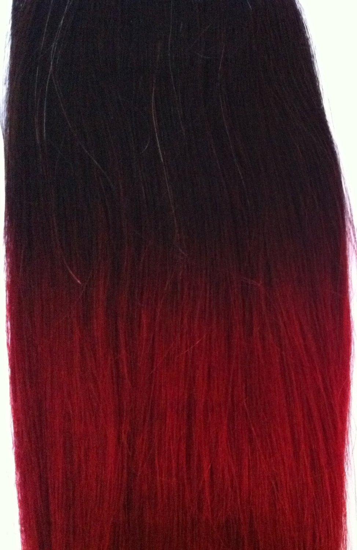 Buy Dip Dye Hair Extensions 72 Weft Full Head 12 Darkest