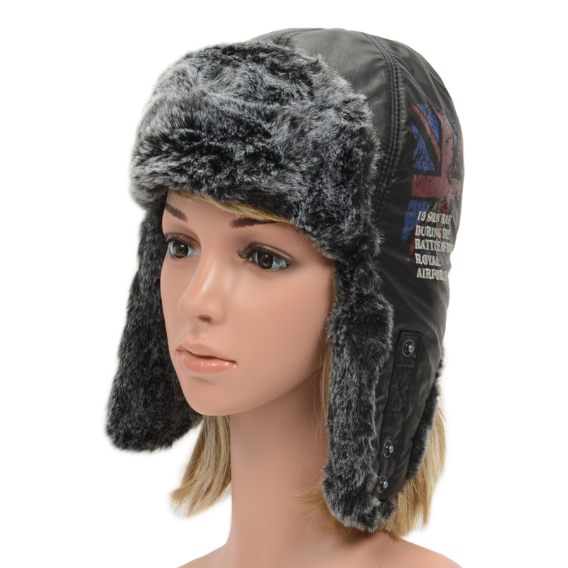 7730f9a1db43b Get Quotations · Union Jack Men Women Bomber Hat Russian Trapper Winter  Warmer Earflap Snow Ski Hat Proof Trapper