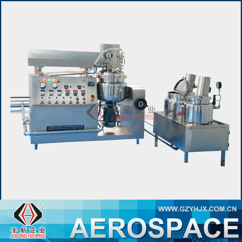 Hydraulic Lifting Large Scale Chemical Machienry Equipment Lotion Making Machine Vacuum Emulsifier