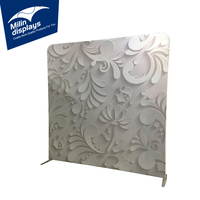 Printed 3D Solid Image Wall Backdrop Tradeshow Booth Display Cases