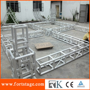 RK 2014 on sale large aluminum truss lifting tower truss with peaked roof truss beam