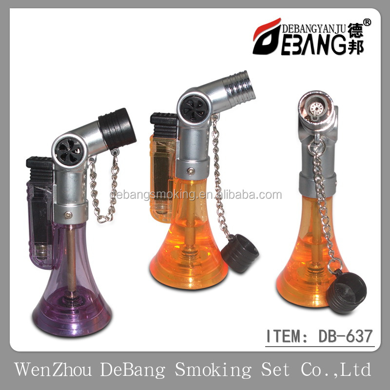 Single Jet Torch Flame Refillable Butane Cigar Cigarette Gas Lighter