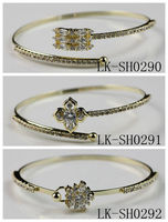 Lots New Fashionable Cheap Bulk Brass Copper Women Wear Imitation Diamond Jewelry Bangle
