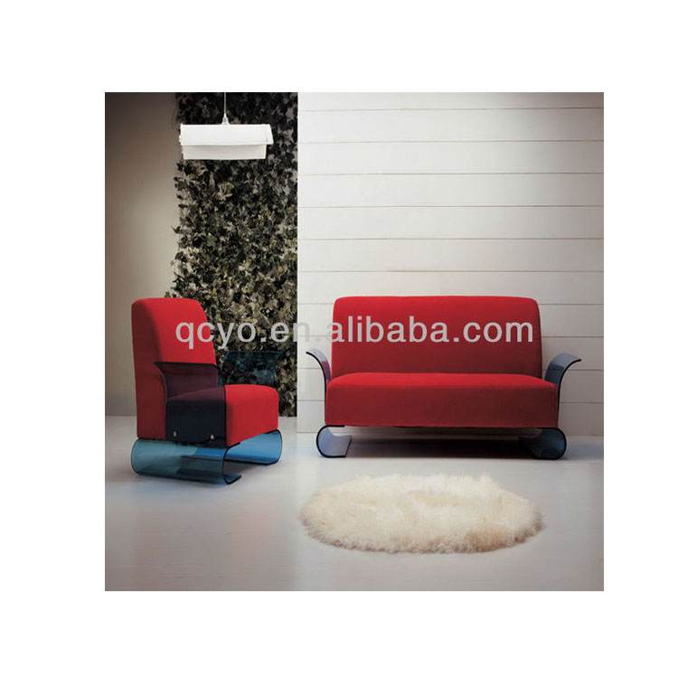 Luxury indoor living room furniture sofa Acrylic design sofa modern sectional sofa