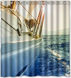 Get Quotations Popular Design Boat Set Sail Away From Here Shower Curtain 66w X