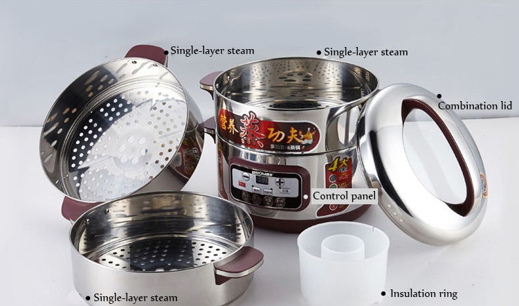 Electric Tamale Steamer Pot ~ Adjustable time setting food grade stainless steel stew