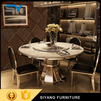 Cheap Marble Top Dining Table Set Made In China For Sale