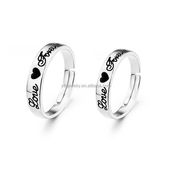 Factory Price Genuine Silver Love Forever Couple Rings Design For