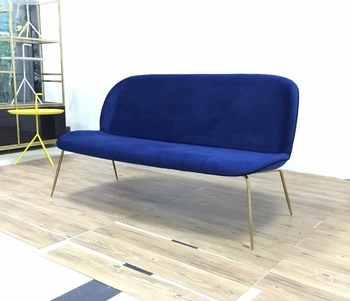 New Design Living Room Fabric Sofa Two Seaters Loveseat Replica Gubi Beetle For Lobby