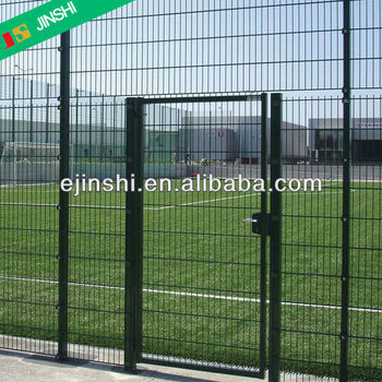 1.5m H square pipe post metal garden gate with lock for playground