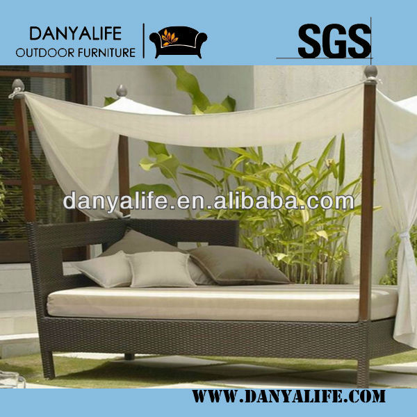 DYBED-D1103A,Wicker Garden Patio Sun Bed,Rattan Outdoor Leisure Single Daybed,Cane Swimming Pool Lounger Bed,Beach Sun Lounger d
