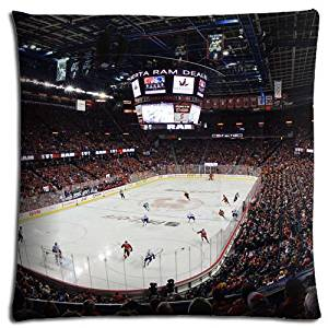 Easy Cleaning Perfect Zippered Polyester - Cotton Calgary Flames Home Pillow Cases 20x20 inch 50x50 cm