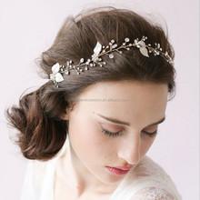 Banda de Pelo de la novia de Cristal Tiara Nupcial de la Corona Pelo de la