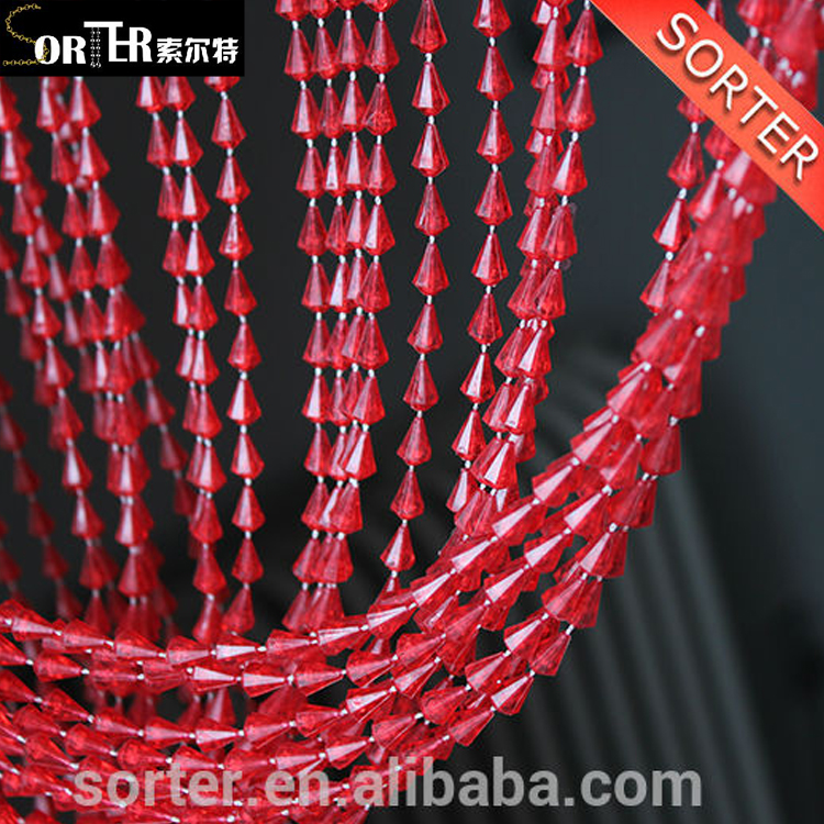 Hot sale beads chain curtains/plastic beaded room dividers/beaded strand door curtains