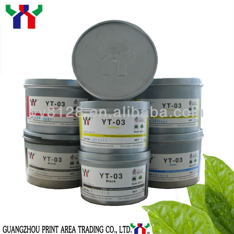 YT-03 Eco Offset Printing Ink Anti Skinning Glossy for banner printing