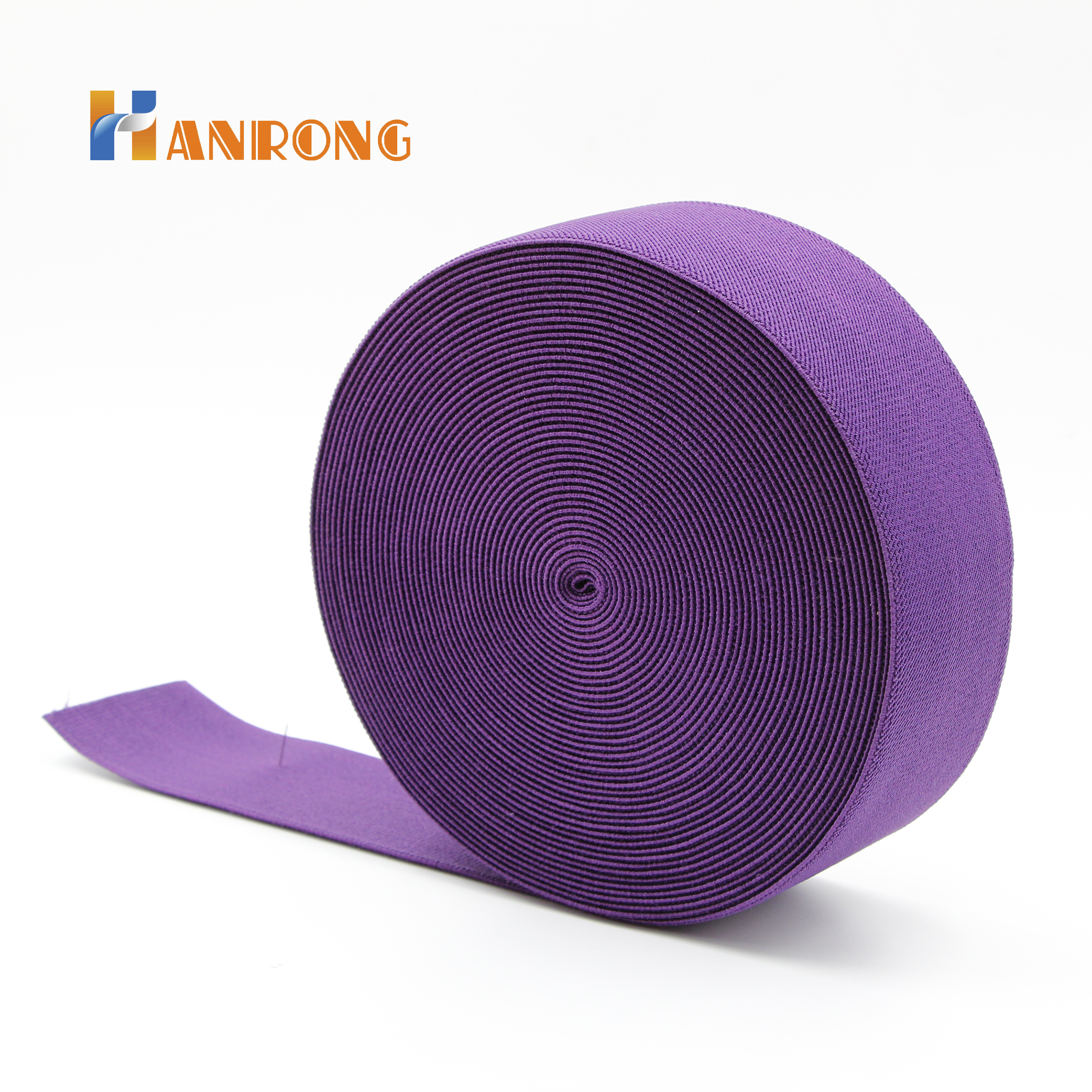 Coloured Custom webbing Polyester Elastic webbing with  Good quality