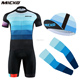 MICKO Men Cycling Jersey Set Bike Hats Arm Sleeve Customized Blank Cycling Caps Arm Warmers Bicycle Clothing