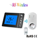 Programmable digital wireless thermostat temperature controller for room heating