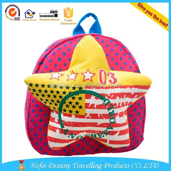 china new product fashion cute kid bag with star