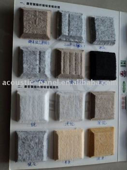 Interior Wall Paneling Polyester Fiber Acoustic Panel Sound Insulation Wall  Panel