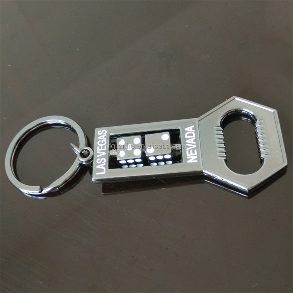 good price lasvegas dice bottle opener keychain