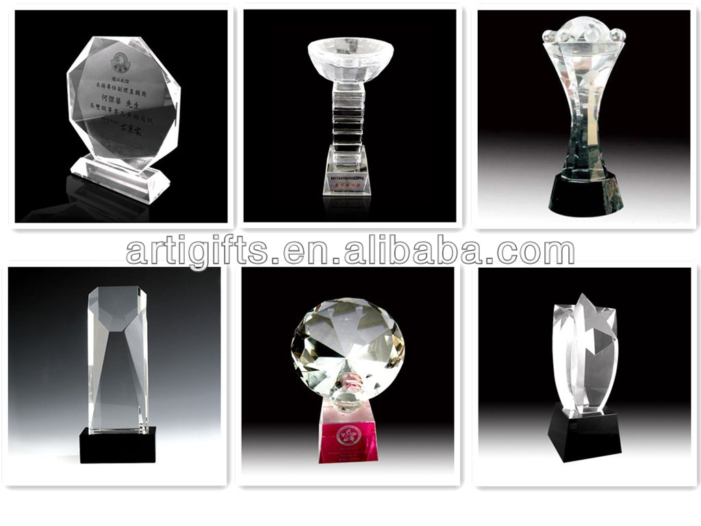 Custom logo design crystal award plaques