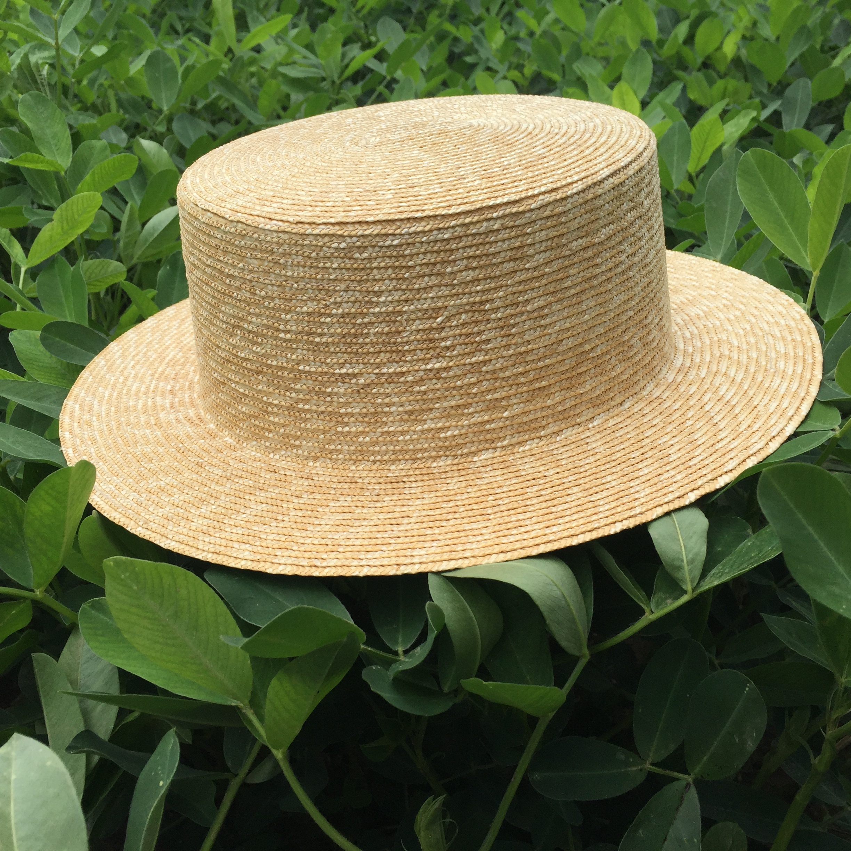 Handmade Wide Brim Wheat Straw Boater Bucket Sun Hat - Buy Water Proof Wide  Brim Hat ef70e45e60ae