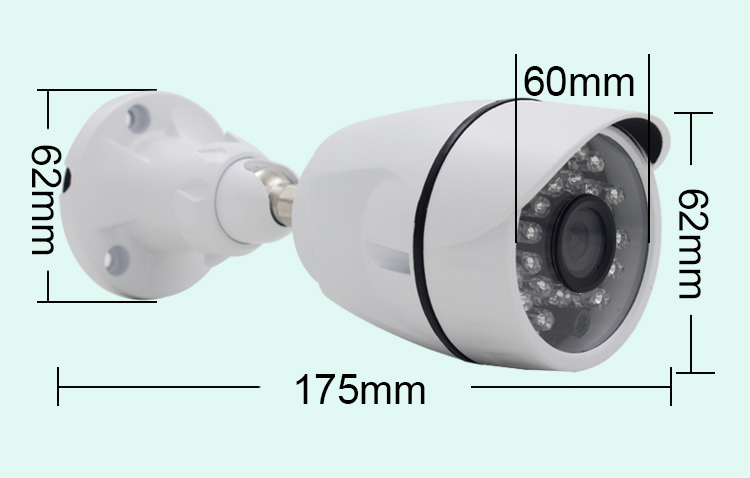 Hot selling Bullet 720P/960P/1080P/4.0MP/5.0MP Metal waterproof/weatherproof AHD Camera